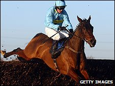 Paul Moloney and Deep Purple en route for the winning line at Peterborough