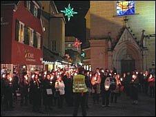 Candle-lit procession, Graz