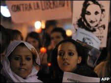 Demonstrators in Spain