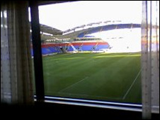 The view from Steve Wilson's hotel room