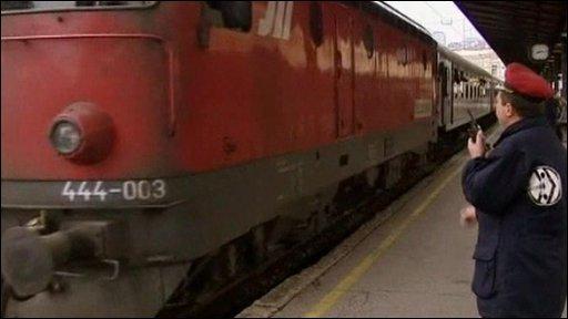 Train departs from Belgrade