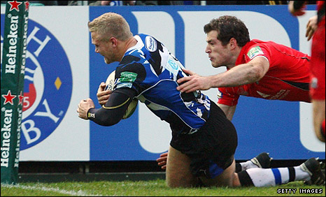 Michael Stephenson scores for Bath