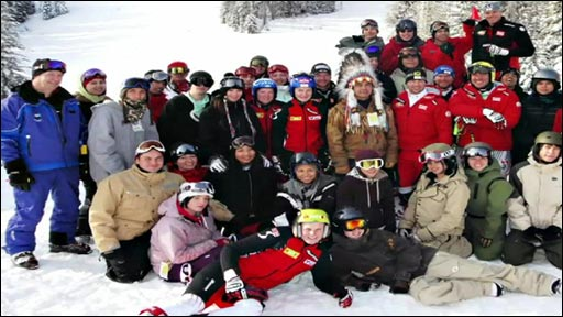 First Nations Snowboard team in Vancouver
