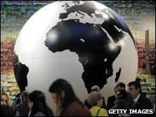 Giant globe at the Copenhagen summit (Getty Images)