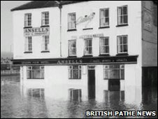 Flooding in Worcester 1965