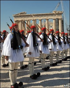 Presidential Guard at Parthenon, Athens