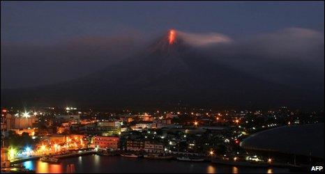 Lava flows down Mayon volcano, Philippines, 15 Dec