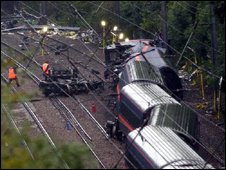 Hatfield train crash scene
