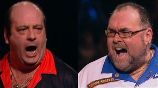 Ted Hankey and Tony O'Shea, BDO World Darts Championship final 2009