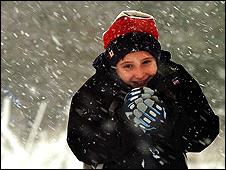 Walker in the snow (Photo: John Giles/PA)