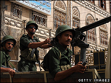 Yemeni soldiers in Sanaa - July 2009
