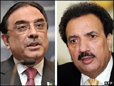 President Zardari and Interior Minister Rehman Malik