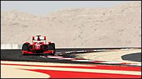 A Ferrari at the Bahrain Grand Prix