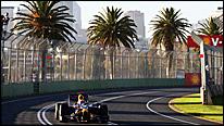 Mark Webber's Red Bull at the 2009 Australian Grand Prix