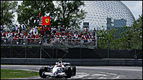 Robert Kubica's BMW Sauber on its way to victory at the 2009 Canadian Grand Prix
