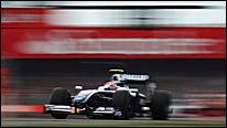 Kazuki Nakajima's Williams speeds through Copse Corner at the 2009 British Grand Prix