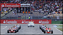 The start of the 2008 German Grand Prix at Hockenhemi