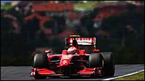 Kimi Raikkonen's Ferrari at the 2009 Hungarian Grand Prix