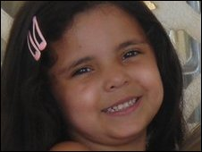 Nadia Fawzi when she was four-year-old before she was taken