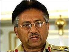 Former Pakistani President Perviez Musharraf