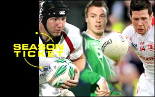 Stephen Ferris, Jonny Evans and Sean Cavanagh