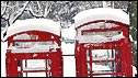 Snowy phoneboxes