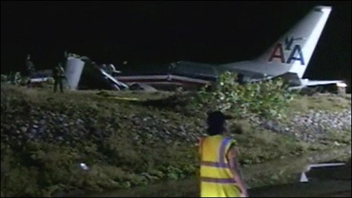 American Airlines plane wreckage