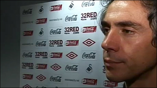 Swansea City boss Paulo Sousa