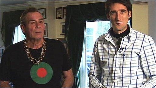 Bobby George and Rob Walker, BBC Sport's darts highlights team
