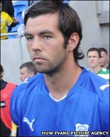 Cardiff City midfielder Joe Ledley