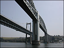 The bridges over the Tamar