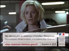 Still from French TV campaign to raise awareness of psychological violence