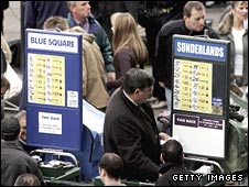 Bookmakers at a racecourse