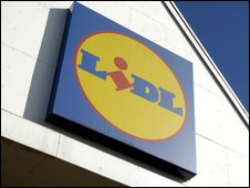 Lidl sign outside supermarket, file pic
