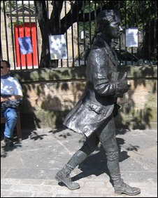 Statue of Robert Fergusson in edinburgh, photo courtesy of Michael TRB Turnbull