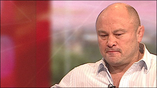 Former England rugby player Brian Moore