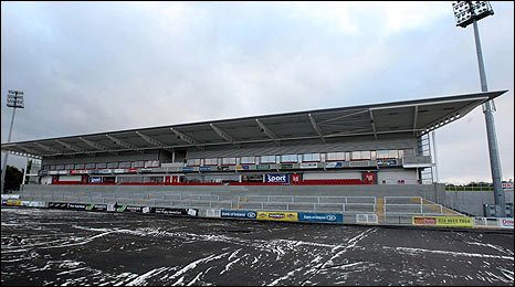 The match at Ravenhill has been called off because of a frozen pitch