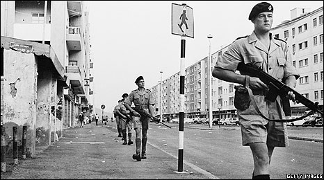 British troops in the then crown colony of Aden, 1965