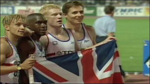 Jamie Baulch, Mark Richardson, Iwan Thomas and Roger Black