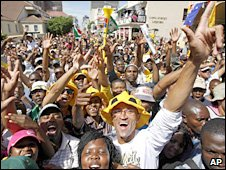 Fans gather in South Africa ahead of the World Cup draw  last year