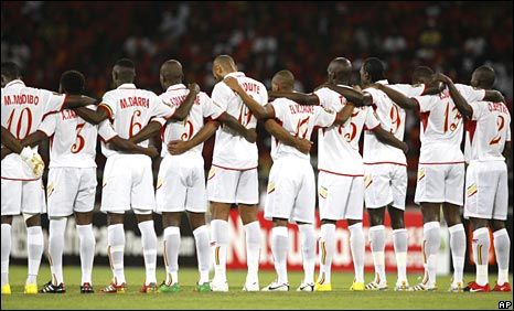 Mali observe a minute's silence for those killed in the attack on Togo's team bus