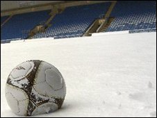 Snow at the Kassam Stadium