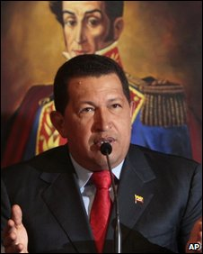 President Hugo Chavez in photo from 30 December 2009