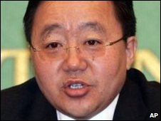Mongolian President Tsakhia Elbegdorj 