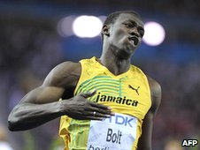Bbc news jamaica country profile bolt crossing the line in mens 100m final in beijing 2008 sciox Gallery