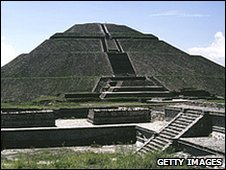 Temple of the Sun, ruins of Teotihuacan, Mexico
