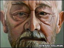 Portrait of Alan Sillitoe by Edward Sellman