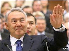 Kazakhistan's President Nursultan Nazarbayev - 12 December 2009