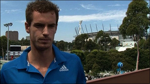 Andy Murray in Melbourne