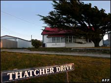 House on Thatcher Drive in the Falkland Islands